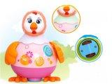 Brinquedo pequeno educacional plástico do bebê da galinha dos miúdos