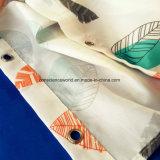 Tenda di acquazzone stampata trasferimento poco costoso su ordinazione del poliestere