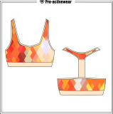 Mais recente Design Mesh Padded Athletic Clothes Underwear Bra
