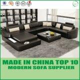 Sofá moderno do couro da sala de visitas da mobília (H2212)
