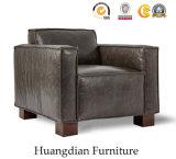 Sofá moderno do couro do único assento da mobília da sala de visitas da entrada (HD529)