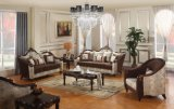 Il sofà americano del tessuto con il blocco per grafici di legno & la Tabella classica ha impostato per mobilia domestica