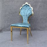 青いシェルの背部販売(YC-ZS44)のためのよいデザインステンレス鋼の椅子