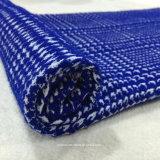 Azzurro e bianco del tessuto delle lane del jacquard