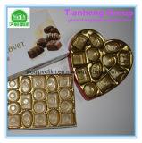 Pellicola rigida del PVC dell'argento di plastica dell'oro usata per l'imballaggio del cioccolato