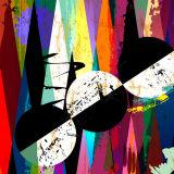Самомоднейшие цветастые абстрактные печати холстины