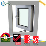 Casement alemão Windows do impato do furacão do frame UPVC do estilo europeu