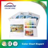 Folleto modificado para requisitos particulares de la tarjeta del color de la impresión del libro del atascamiento perfecto