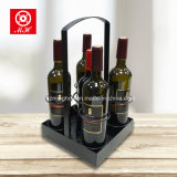 Aménagement portatif de vin de crémaillère de vin en métal de 5 bouteilles pour la maison