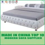 Het moderne Elegante Bed van het Leer van het Ontwerp Echte voor Slaapkamer