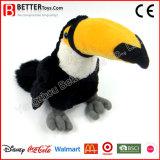 Oiseau de jouet de Toucan de peluche de Hornbill de peluche