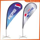 bandeira feita sob encomenda da pena do Teardrop 2PCS para o anúncio ao ar livre ou do evento ou o Sandbeach (modelo no.: Qz-033)