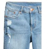 Хлопок повелительниц/краткости поли/Lcy 10oz длинние джинсовой ткани