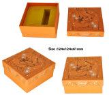 Rectángulos de regalo de papel de la joyería de la cartulina con la impresión de la insignia