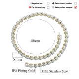 Collar magnético elegante del acero inoxidable de la manera (70002)