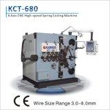 Axe 6 de Kct-680 8mm à grande vitesse et ressort de compression stable enroulant le pot tournant de Machine&Spring avec le dispositif de mesure de longueur d'appareil-photo