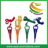 Stylo de promotion de corde à cou avec ouvre-bouteille