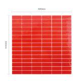 Искусствоа Backsplash строительных материалов плитка мозаики линейного красного стеклянная