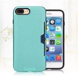 para a caixa do telefone de pilha do iPhone 7plus 6plus de Apple com escudo móvel deslizado da tampa traseira de suporte de cartão (XSEH-040)