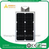 8W todo em uma luz de rua solar ao ar livre do diodo emissor de luz com o sensor de movimento de PIR