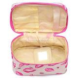 携帯用リップパターン洗面用品の構成の記憶のオルガナイザーの化粧品袋