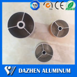 La extrusión de aluminio anodizado de aluminio cuadrado de la aleación / Ronda / piso / oval del tubo de perfil