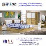 経済的な簡単な中国の寝室の家具の木の寝室セット