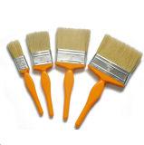 직업적인 백색 강모 혼합 색깔 플라스틱 손잡이 편평한 솔 (GMPB015)