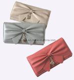 Ультрамодный бумажник женщин кожи Faux декора смычка