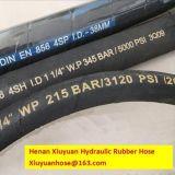 Gewundener Öl-beständiger hydraulischer Schlauch-flexibler Gummischlauch