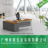 Pie de acero de la manera con los muebles de oficinas de la tapa de la melamina con el vector lateral