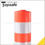 De oranje Post van de Waarschuwing van de Kleur Pu met 3PCS met Weerspiegelende Band