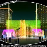 Da forma colorida da flor da iluminação da fonte da dança da música fonte interna