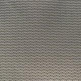 Tecido de memória de imitação diversificada da serra de 75D para preto e branco para casacos
