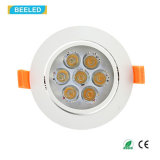 La alta calidad 7W calienta la luz blanca Dimmable LED Downlight del punto