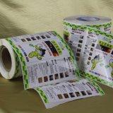 Escritura de la etiqueta auta-adhesivo de papel impresa de la etiqueta engomada