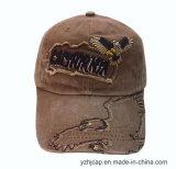 El casquillo promocional del bordado del casquillo de la gorra de béisbol del algodón de encargo de Burshed se divierte la gorra de béisbol del bordado