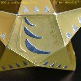 جديدة ذهبيّة رقيقة معدنيّة ورقة عالة زخرفيّة شوكولاطة يزيّن صندوق مع وشاح وحارّ يختم لأنّ عيد ميلاد المسيح