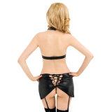 Nieuwe Hete Dame Underwear Sexy Leather Bra Vastgestelde van het Ontwerp Lingerie Teddy (R80229)