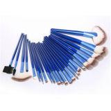 blaues Berufspinsel-Set der verfassungs-24PCS mit dem synthetischen Haar