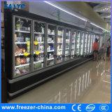 Merchandiser индикации двери замороженного мороженного вертикальный стеклянный