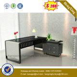 현대 강화 유리 행정실 테이블 금속 구조 가구 (NS-GD005)