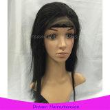 새로운 디자인 자연적인 까만 인간적인 Virgin 머리 레이스 가발
