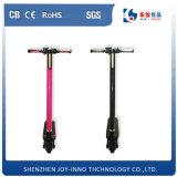 Scooter électrique de mini pliage de vélo de poche de fibre de carbone