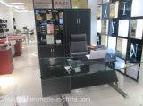 Erstklassiger Büro-Bücherschrank mit Belüftung-Leder (G07)