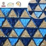 Tela oscura y azul clara de Trangle del modelo del bordado del cordón, venta caliente C10042