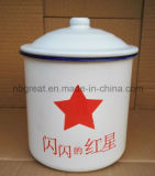 Taza de cristal del esmalte de té del esmalte viejo nostálgico retro de gran tamaño de la urna