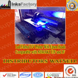 디스트리뷰터는 원했다: 90cm*60cm 인쇄 크기를 가진 평상형 트레일러 LED UV 인쇄 기계