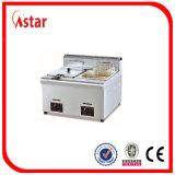 Friggitrice industriale con il sistema di sicurezza, friggitrice profonda del gas del chip dei pesci del pollo dell'acciaio inossidabile calda in India