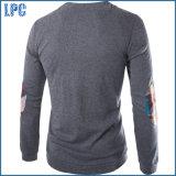 Maglietta lunga 100% degli uomini del manicotto del cotone all'ingrosso di abitudine